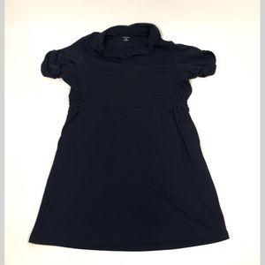 Lands End dress sz 2x Navy blue short sleeve shirt